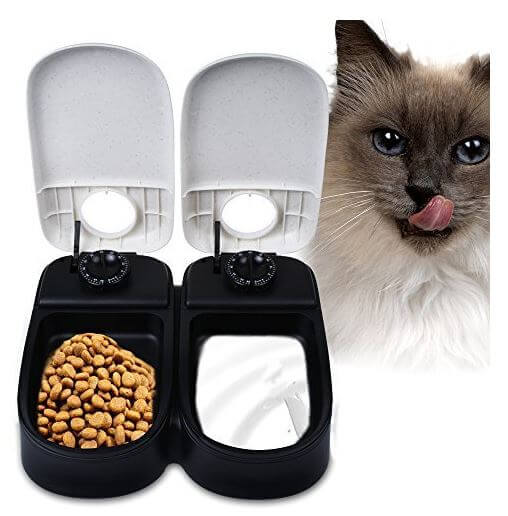 Pet Feeder WOpet Dog Cat Feeder Bowl Automatic Pet Feeder-2